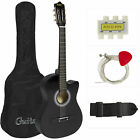 New Beginners Acoustic Guitar With Guitar Case, Strap, Tuner and Pick фото