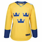 adidas Sweden Hockey Womens Yellow 2016 World Cup of Hockey Premier Jersey