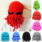 FL Cool Men Women Knitted Winter Caps Ski Hat Ghost Mask Halloween Dress Up Hats