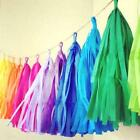5 pcs x Tissue Paper Garland Festival Tassel Birthday Wedding Party Event DIY
