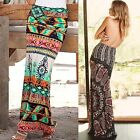 Boho Hippy Gypsy Women Summer Floral Long Maxi Skirt Beach Dress Sundress B20E