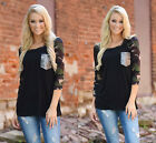 New Fashion Womens Long Sleeve T Shirts Casual Tops Camouflage Printed Beads