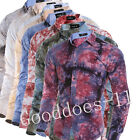 Mens 3D Print Slim Fit long Sleeve Casual Dress Shirt Business T-Shirts Tops New