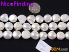 """AAA Natural White Freshwater Pearl Gemstone Beads For Jewelry Making Strand 15"""""""