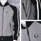 Trojan Records Limited Edition Retro Houndstooth Check Track Top Black / White