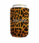 PERSONALISED REAL LEOPARD PRINT NEOPRENE CAN COOLER STUBBY HOLDER BEER COSY