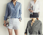 Summer Women Loose Long Sleeve Casual Cotton T-shirt Tops Fashion Blouse