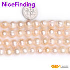 """9-10mm Wholesale Lots Freshwater Pearl Round Beads For Jewelry Making Strand15"""""""