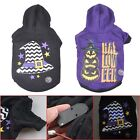 Universal Pet Dog LED Luminous Light Hooded Clothes Puppy Halloween Costume New
