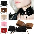 Sexy Women Lace Up Gothic Punk Choker Vintage Velvet Leather Necklace Jewelry