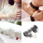 Fashion 1pc Punk Gothic Women's Lace Flower Choker Necklace&Bracelet Jewelry Hot