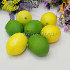 6pcs Limes Lemons Home Decorative Props Plastic Artificial Fruit Imitation Fake