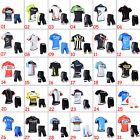 New Mens Road Bike Team Clothing Short Sleeve Jersey Shorts Kits Riding Outfits