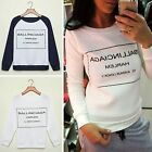 New Women Ladies Casual Hoodie Sweatshirt Jumper Pullover Long Sleeve Tops Print