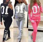 2Piece Women's Fashion Casual Sport Sweatshirt Track Pants Sweat Suits Tracksuit