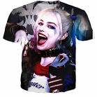New Fashion Womens/Mens Harley Quinn Funny 3D Print T-Shirt US28
