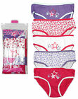 Girls Pack of 5 Bright STARS Cotton Briefs Knickers Underwear Pants 2 - 13 Years