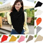 FL Womens Fashion Neckerchief Warmer Knitted Soft Cappa Scarf Scarves