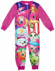 Girls Shopkins Polly Lippy Blossom Microfleece Sleepsuit Romper 2 to 8 Years