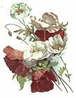 Cinnamon White Poppy Flower Spray Select-A-Size Waterslide Ceramic Decals Bx image