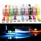 LED Light Up USB Data Sync Charger Cable for iPhone Android Samsung Cell Phones