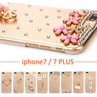 For iPhone 7/ 7 Plus Girl's 3D Bling Case Crystal Diamond Transparent Hard Cover