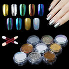 Elite99 Nail Art Chrome Powder Metallic Mirror Effect Holo Rainbow Sponge Stick