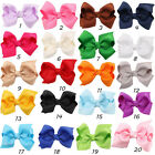3 Inch Hair Bow Girls Kids Clips Headwear Bowknot Boutique Wholesale