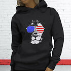 American Lion Independence Fourth Of July Top Day Womens Charcoal Hoodie