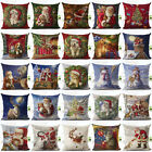 Cotton Linen Christmas snowman Pillow Case Sofa Square Cushion Cover Home Decor
