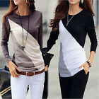 Womens Casual Tops New T-Shirt Loose Fashion Blouse Cotton Blouse Long Sleeve