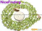 """Natural Green Peridot Bead Necklace Fashion Women Jewelry Mother Day Gift 19-20"""""""
