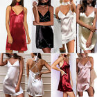 Slip Dress Spaghetti Strap Mini Dress V Neck Satin Women Club Party Dresses New