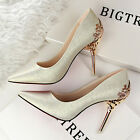Sexy Pointed Toe Pumps Chic Classic Suede High Heels Formal Party OL Women Shoes