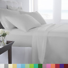 Sheets Pillowcases - Supreme Super Soft 4 Piece Bed Sheet Set Deep Pocket Bedding All Colors Sizes