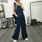 New Fashion Loose Suspender Pants Bell-bottoms Women's Denim Overalls Trouse