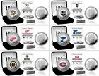 Choose Your NHL Team Commemorative Silver & Color Logo Minted Medallion Coin