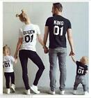 Summer Happy Family Matching Clothes Parent-child Outfit Short Sleeve T-shirt