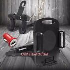 Car Rear Back Seat Headrest Tablet Mount Holder Cradle+Bag Hanger+Belkin Charger