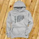 Horror Halloween Scary Gore Costume Vampire Blood Mens Gray Hoodie