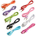 Smartphone Plastic Noodle Shaped 3.5mm Male to Male Flat Audio Cable 1M 3.3ft