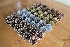 PINE TREE CONES - NATURAL WHITE SILVER GOLD - CHRISTMAS WREATHS FLORAL CRAFTS