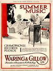 WARING & GILLOW - Gramophones, Records. Oxford St. London.  (1919 Advertisement)