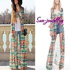 Boho Women's Maxi Chiffon Vintage Gypsy Hippie Long Sleeve Cardigan Shirt Dress
