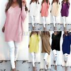 UK Womens Ladies V-Neck Knitwear Warm Oversized Baggy Sweater Pullover Top Dress