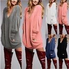 Womens Pullover Tops Lady Long Sleeve Casual Blouse Baggy Jumper T-Shirt Dress