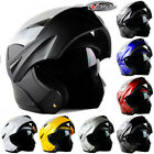 DOT Dual Visor Flip Up Motorcycle Helmet Motocross Full Face Street Bike Protect