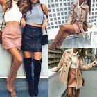 Women Slim PU Leather Pencil Skirt Bodycon Formal High Waist Mini Skirt Clubwear