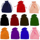 10-100pcs Velvet Drawstring Gift Bags Wedding Jewellery Candy Party Pouch Bag UK