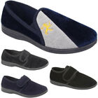 New Mens Warm Indoor Luxury Velour Lion Comfort Slip On Slippers Shoes Sizes Uk